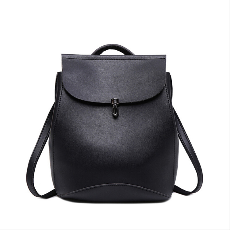 NEW Fashion 2017 Simple Backpack Women Mini PU Leather School Bags For Teenagers Girls Preppy Style Student Backpacks Mochilas