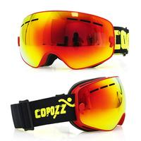 Copozz Snow Skiing Ski Goggles Glasses Double layer Anti fog Large Spherical Glasses for Children of 4 15 Years Old
