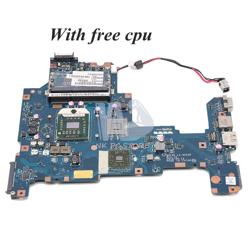 NOKOTION K000103980 Main Board For Toshiba Satellite L675 L675D Laptop Motherboard NALAE LA-6053P HD3200 DDR3 Socket S1 Free CPU
