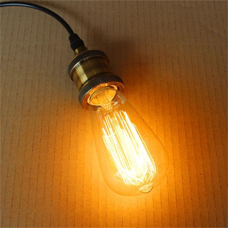 1 stücke Retro Lampe ST58 40 watt E27 Warme Weiß Retro Dimmbare Dekorative Glühlampen Vintage Edison Glühbirne für zuhause /wohnzimmer