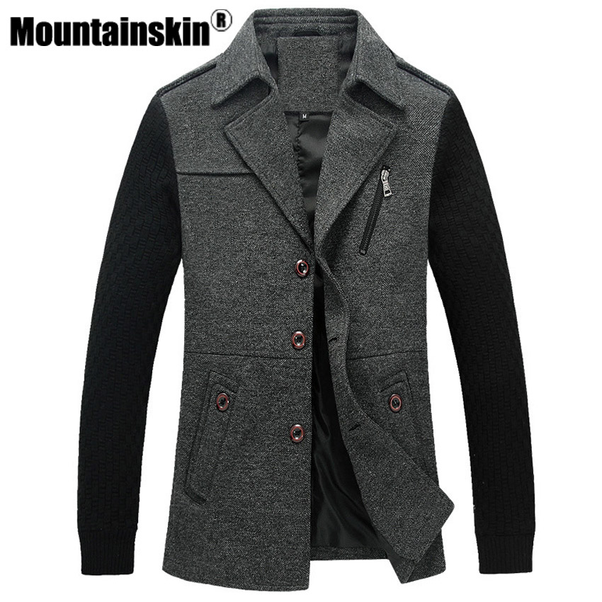 Mountainskin Fashion Trench Mens Jackets 4XL Business Coats Men Outerwear Slim Fit Overcoats Male Jackets Brand Clothing SA291