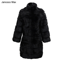 BIUBIUboom Women Faux Fox Fur Coat PU Sleeve Warm Winter Overcoat B0776SVJNR