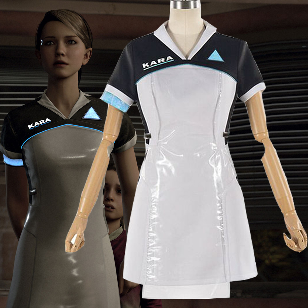 Detroit: Become Human KARA Cosplay Costume Dress AX400 Halloween Party Clothes 2018 New