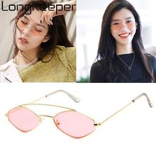 Small Sexy Cat Eye Sun Glassses Women Vintage Oval Metal Sunglasses Men Colorful Shades Eyewear UV400 Hot style