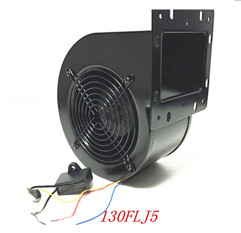 130FLJ5 Small Power Frequency Centrifugal Fan Blower With Edge 120W