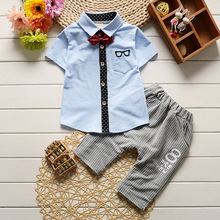 Hot Sale Spring Summer Baby Boy Clothing Sets Kids Clothes Set Toddler Cotton Sweatshirt+short Pants Sports Suit Tracksuit