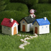 ZOCDOU 1 Piece Cute House Building Cottage Room Small Statue Home Decoration Accessories Children Toys Decor Craft Figurines(China)