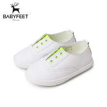 Babyfeet Hot Sale Baby First Walkers Children Leather Single Soft Bottom Leisure Breathable Shoes For Boys And Girls