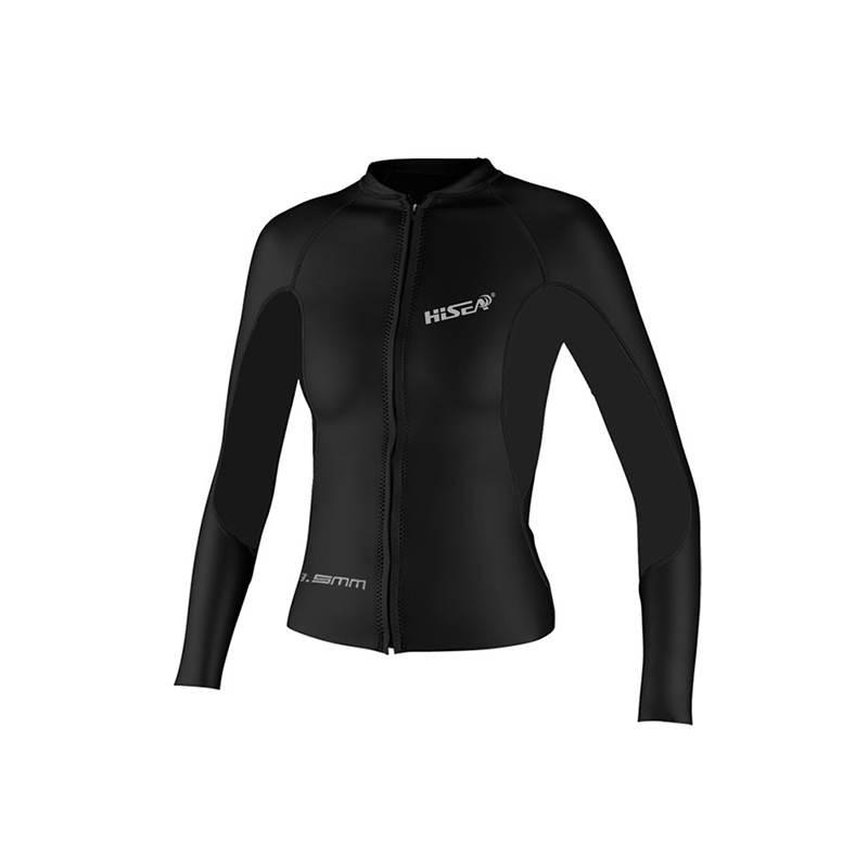 Thick warm winter cold long sleeved jacket diving suits men and women outdoor clothing leather winter surfing jacket in Wetsuit from Sports Entertainment