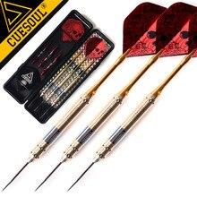 New CUESOUL 3 PCS 23g 25g 27g Steel Tip Fléchettes Professionnel Marque Aiguille Rouge Laser Dart Vols