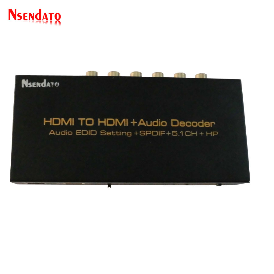 HDMI To HDMI Audio decoder Converter DTS/AC3 Digital audio decoder 5.1CH SPDIF to analog HDMI to HDMI Adapter Splitter