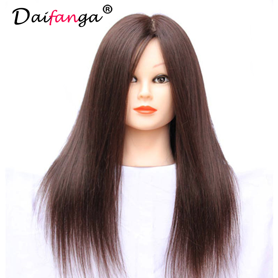 real hair styling mannequin 100 real human hair hairdressing 4807
