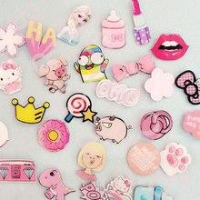 Розовая контакты серия значки № значок акриловая каваи рюкзак украшения мультфильм