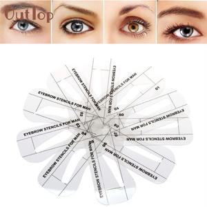 OutTop 10pcs Eyebrow Stencils 10Styles Eyebrow Shaping Stencils Grooming Kit MakeUp Shaper Set Template Pretty DIY Makeup Tool