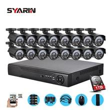 SYARIN AHD-M 720 P 1080N 16CH DVR Segurança 16 pc AHD 720 P câmera de vídeo vigilância CCTV sistema HDMI 1080 P 1 TB de disco rígido