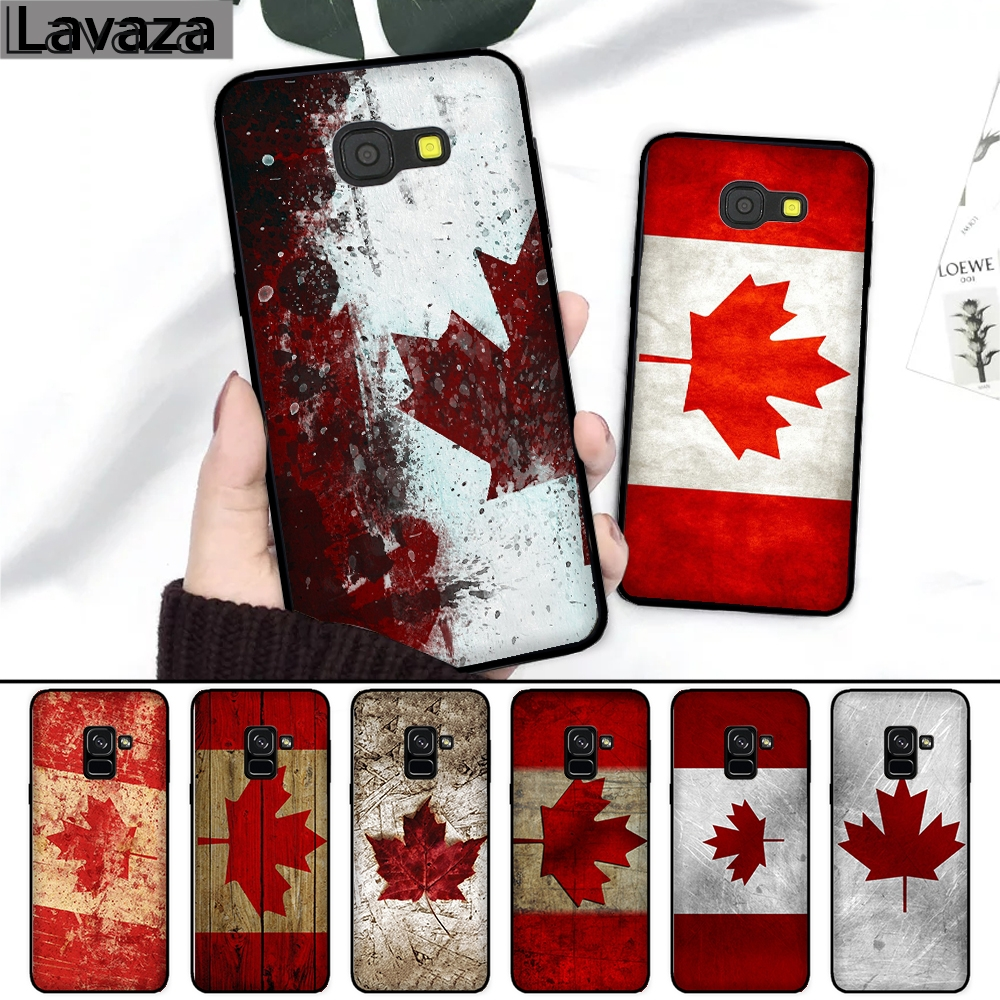 Lavaza Canada Flag Maple Leafs Novelty Silicone Case For Samsung A3 A5 2016 2017 A6 Plus A7 A8 A9 A10 A30 A40 A50 A70 J6 2018 Fancy Colours Cellphones & Telecommunications Phone Bags & Cases