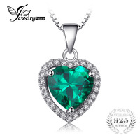 Brand New 3ct Russian Nano Emerald Pendant Women Romance Design Lover S Gift Genuine 925 Solid