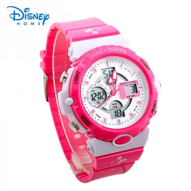 100% Genuine Da Disney Relógio Dos Esportes Da Forma Militar Relógios Digitais Para Homens e Mulheres Multifuncional Ocasional relógios de Pulso