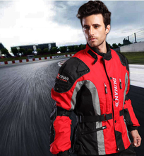 100% Polyester Water Resistant and Windproof Armor Protective Motocross Off Road Men's Racing jackets