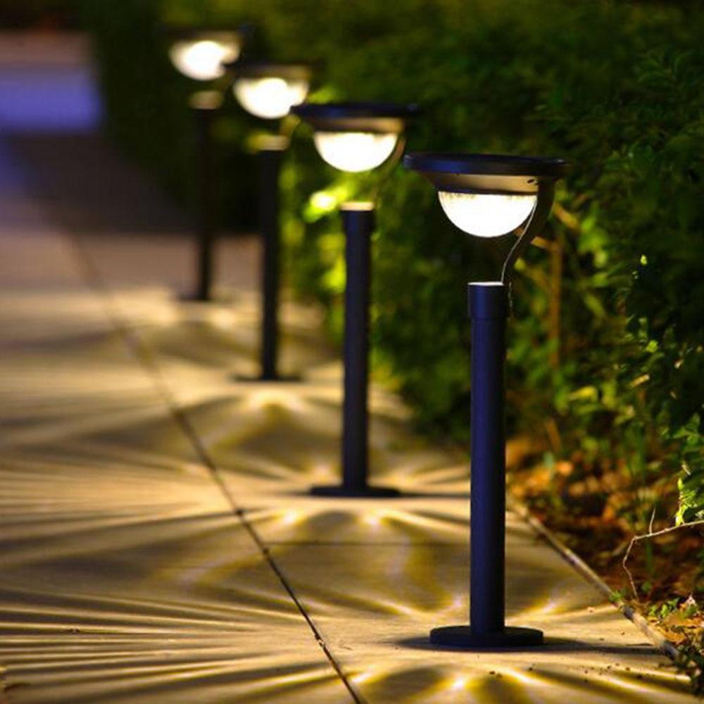 Modern Bright Solar Lights For Garden Embellishment - Brown Nature ...