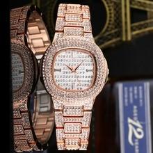 Women Watches Fake Diamonds Rhinestone Bling Bling Watch Square Luxury  Crystal Star Rose Gold Watch Ladies 15c0848692