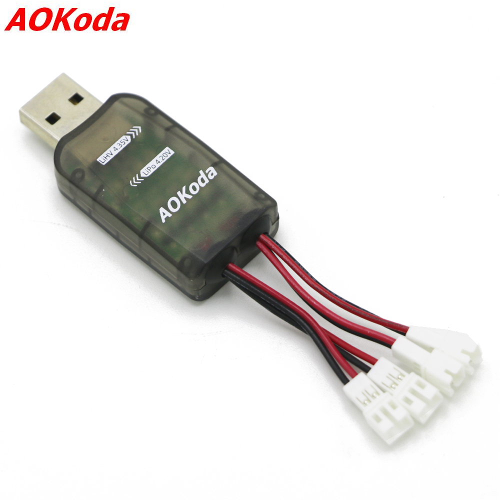 AOKoda CX405 4CH Micro <font><b>USB</b></font> Battery Charger For 1S Lipo LiHV Battery High Quality For <font><b>RC</b></font> Helicopter image