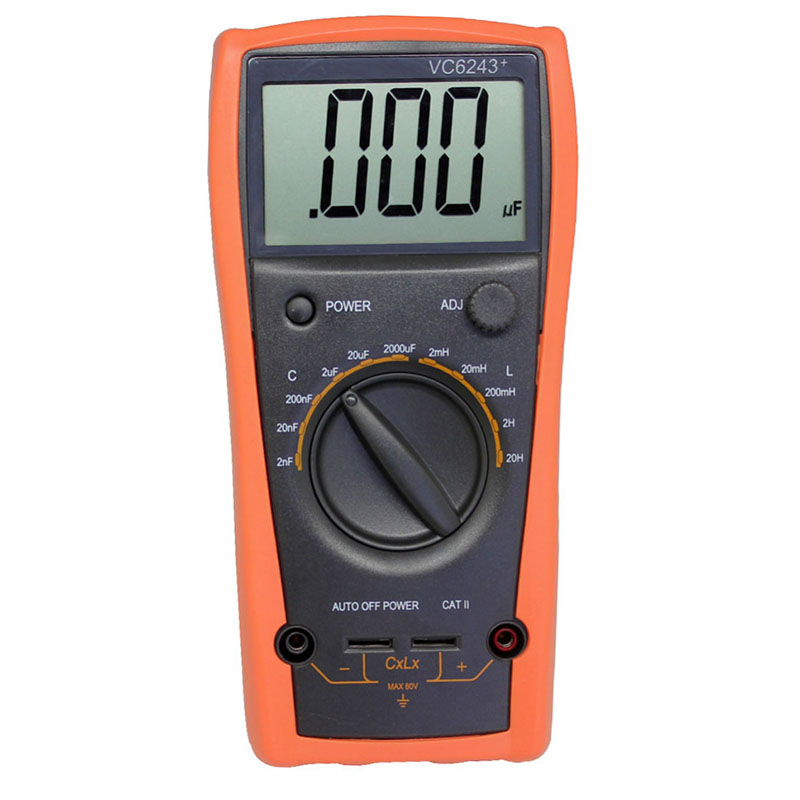 Digital multimeter ViCi VC6243+ high presion LC Meter Inductance Capacitance with Automatic power failure without burning table my68 handheld auto range digital multimeter dmm w capacitance frequency