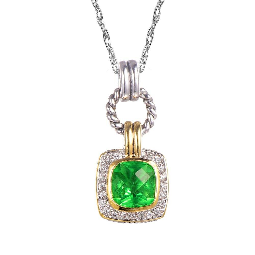6443b87d40ce Peridot 925 plata esterlina hermosa envío libre del colgante pendiente  atractiva TE736
