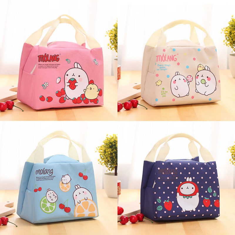 1pc Children Kids Lunch Bags Insulated Cool Picnic Home Storage Bag School Lunchbox Folded Portable Cute Lovely New Lunchbox