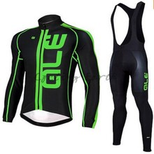 ALE 2016 long sleeve cycling wear clothes bicycle autumn cycling jersey bib pants jacket set ropa