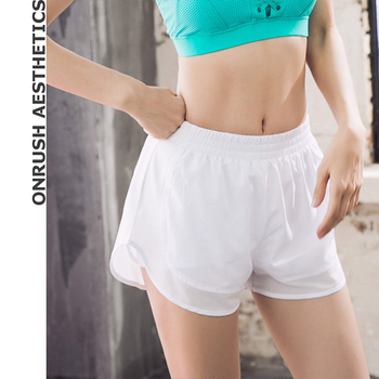 OA Fitness Women's Jogger Shorts 2018 New Breathable Quick-drying Solid Color Bodybuilding Workout Double-deck Thin Soft Shorts
