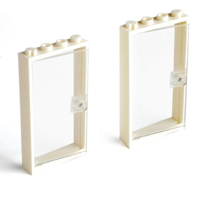 Elements Brick Parts 30179 1x4x6 Door Frame with Transparent Glass Classic Piece Building Block Toy Accessory Bricklink 353 мозаика l antic colonial frame brick light 10x20 28 5x31 1