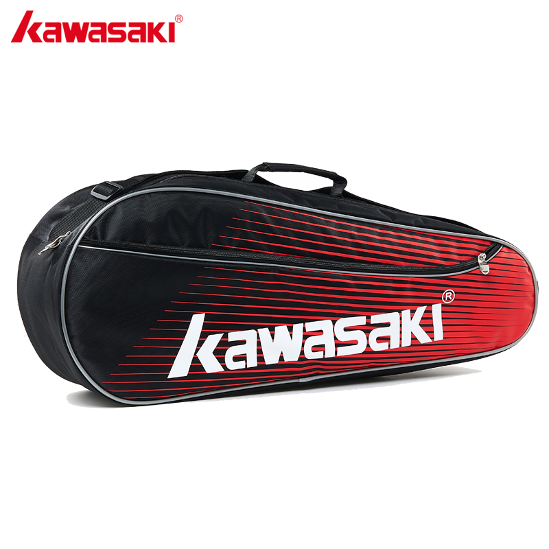 2018 Original Kawasaki Sports Badminton Bag Three Packed Badminton Racket Single Shoulder Tennis Racquet Backpack Bags  KBB-8325