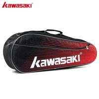 2018 Original Kawasaki Sports Badminton Bag Three Packed Badminton Racket Single Shoulder Tennis Racquet Backpack Bags KBB 8325