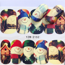 2018 New, Winter Figures Santa Claus Elk Snowman Nail Applique, Sticker. Hot Selling Style
