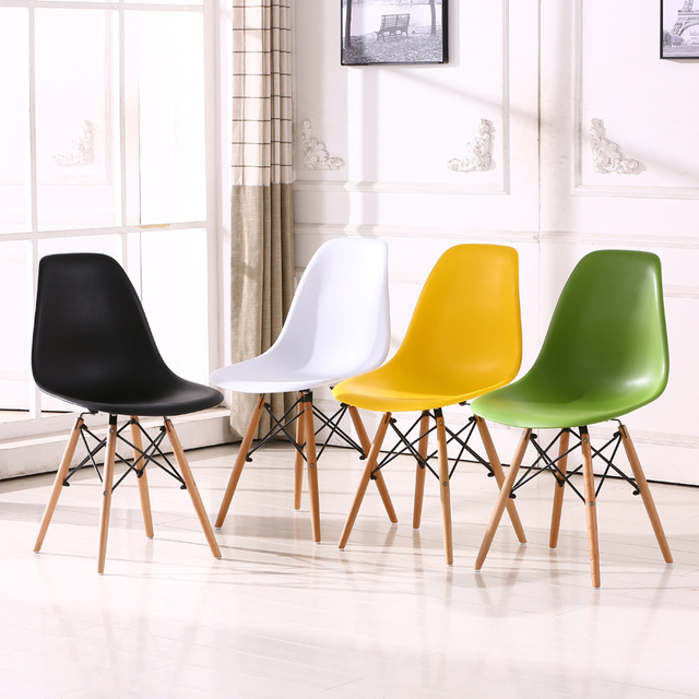 chair design buy bean bag covers aliexpress com fashion simple leisure office dining afternoon tea plastic wooden colorful computer 7 colors optional