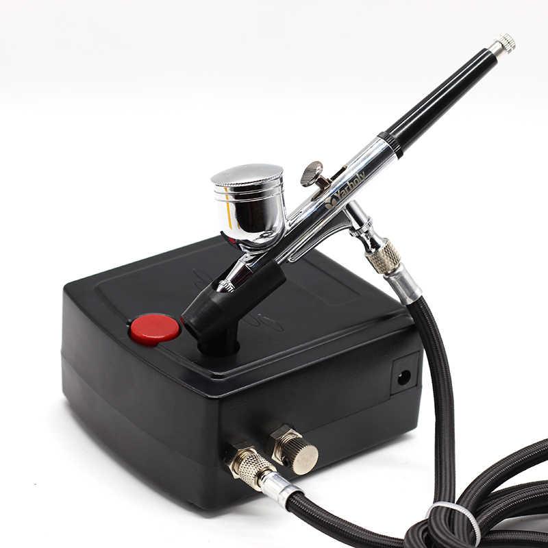 Двойное действие, Аэрограф, компрессор, комплект, воздушная кисть, краскопульт, Пескоструйный пистолет, Пескоструйный пистолет для художественной модели автомобиля, тату, набор инструментов для ногтей