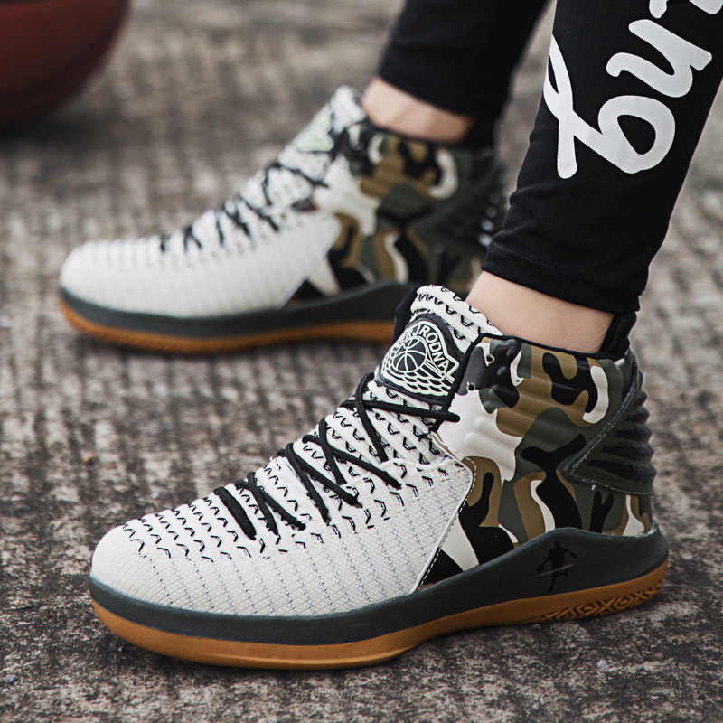 1f50ed67eef5f4 ... Air Cushion Jordan Basketball Shoes Men Breathable Anti-slip Basketball  Sneakers Trainers Ankle Boots Man ...