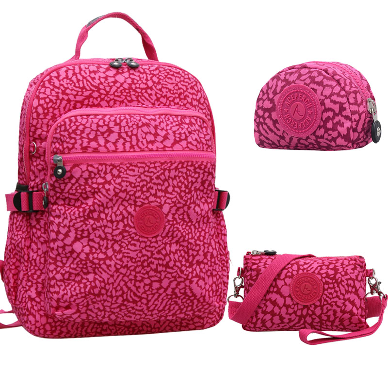 3PCS Set Casual Original School Backpack for Teenage Girl Backpack Women Laptop Mochila Feminina Travel