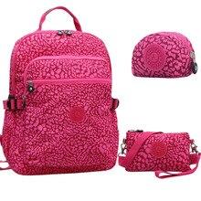 3 pçs/set Originais Casuais Mochila Escolar para Adolescentes Menina Mulheres Mochila Laptop Mochila Feminina bolsa de Viagem