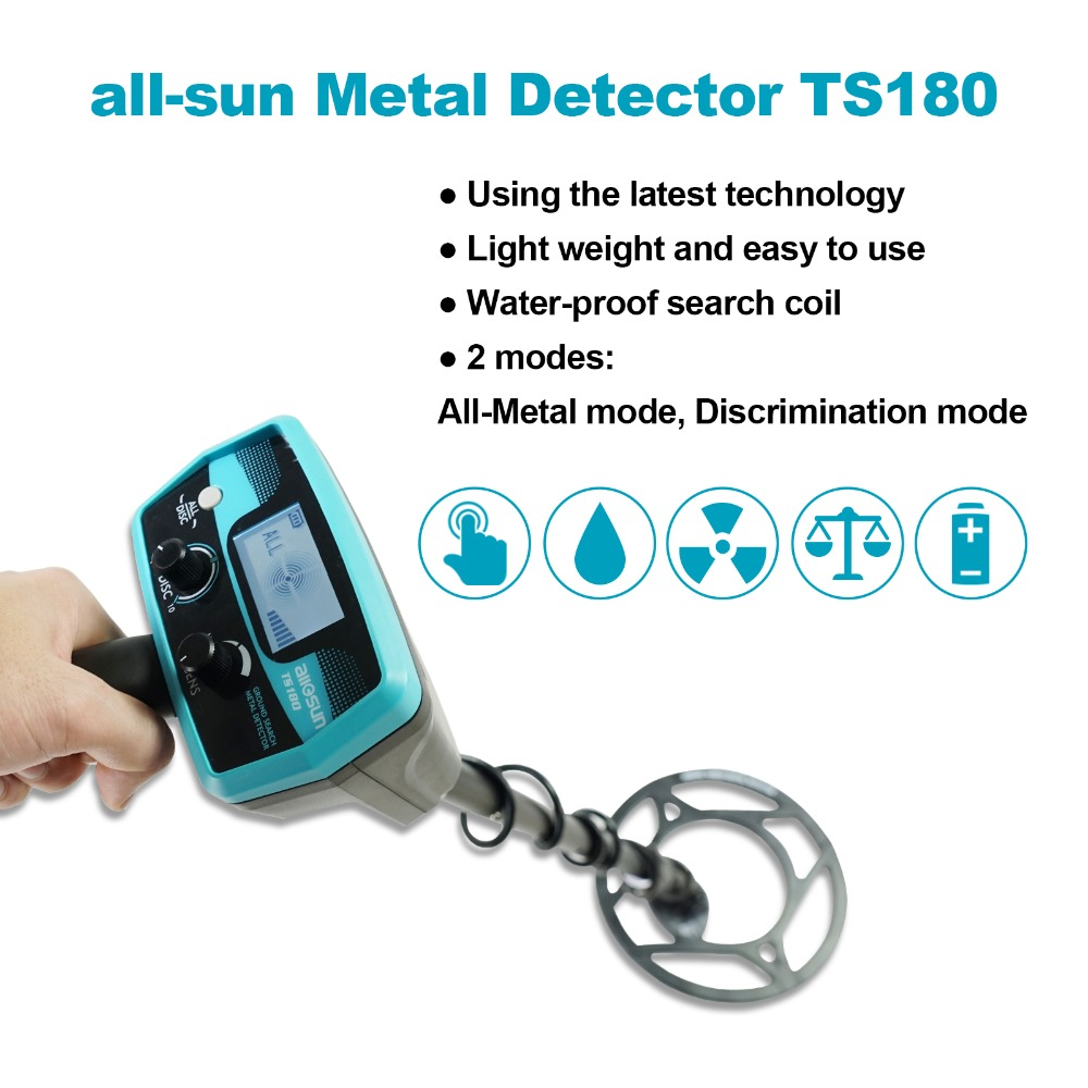 all-sun TS180 Waterproof Handheld Metal Detector Underground High Precision Small Type Archaeological Positioning Instrument