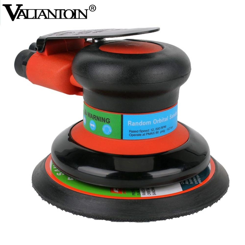 VALIANTOIN Air Random Orbital Palm Sander Polisher For 5inch 125mm Pad Pneumatic Power Tool Air Sander Free Shipping