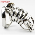 Happygo Stainless Steel Stealth Lock Male Chastity Device with Urethral Catheter,Cock Cage,virginity Belt,Penis Ring,A276-1