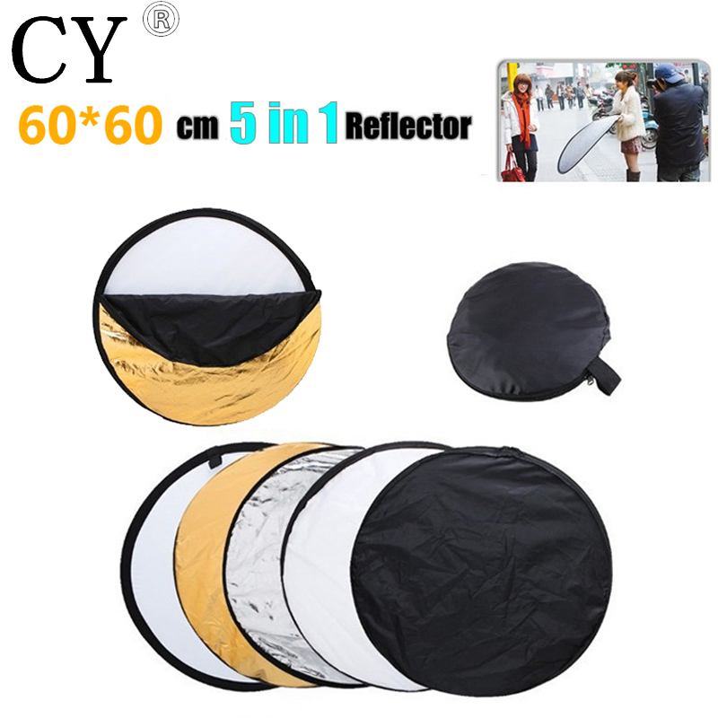Lightupfoto 23.6/60cm 5in1 Collapsible Studio Lighting Reflector Disc studio reflector photography accessory PSCR1-60