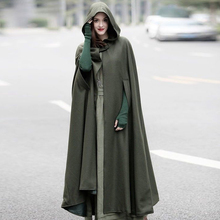 hot deal buy medieval womens long cloak cosplay witch halloween 2018 new hot sale jackets & coats cape hooded coat costume holiday hot cloak