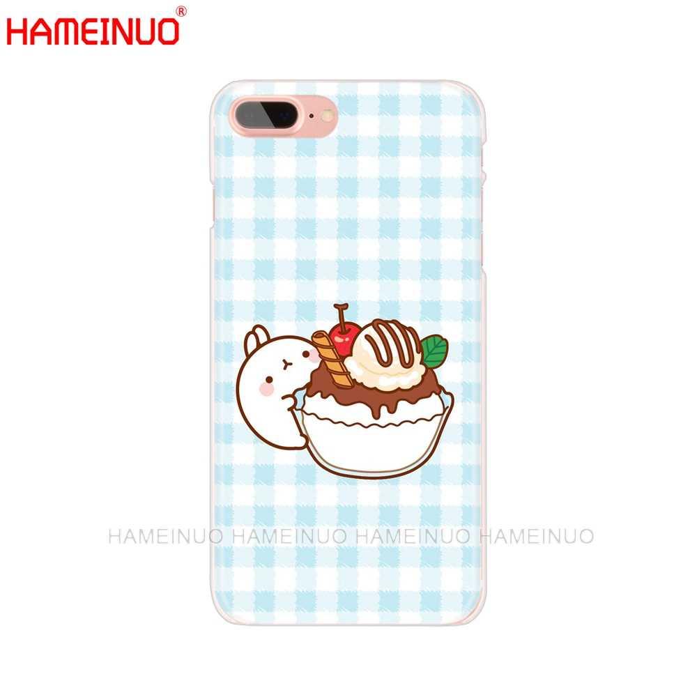 HAMEINUO Molang króliki bystry Kawaii pudełko ziemniaki telefon komórkowy pokrywy skrzynka dla iphone X 8 7 6 4 4S 5 5S SE 5c 6 s plus