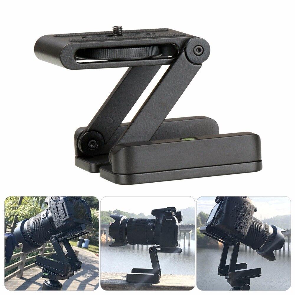 Caméra Trépied Z Pan Tilt Rotule En Aluminium Pliant Support Trépied Rotule Solution Universelle pour Canon/Nikon pour iPhone