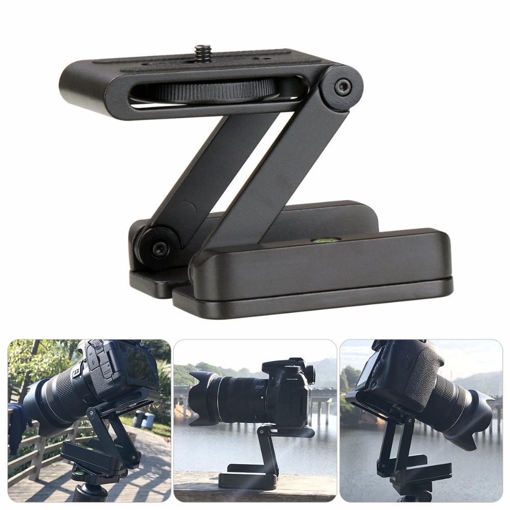 Camera Flex Tripod Z Pan Tilt Ballhead Aluminum Folding Tripod Bracket Ball Head Solution Universal for Canon/Nikon for iPhone