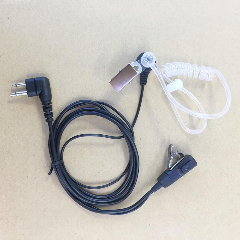 čirá vzduchová trubka průhledná sluchátka 2pin M zástrčka pro - Vysílačky