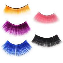 1 Pair Colorful False Eyelashes Exaggeration Thick Long Natural Curling Handmade Profession Eyelash Extension Tool